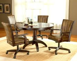 Covered Dining Room Chairs Rolling Dining Chairs Rolling Dining Room Chairs Table With Caster