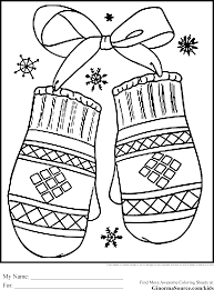 winter holiday coloring pages mittens coloring pages pinterest