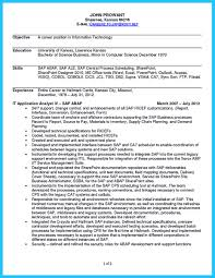 Sap Abap Resume For 2 Years Experience Best Secrets About Creating Effective Business Systems Analyst Resume