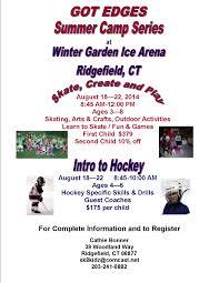 summer camp at winter garden ice arena