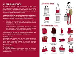 mercedes benz stadium bag policy prohibited items security