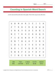 hispanic heritage counting in spanish word search activity for kids