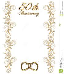 50th anniversary border invitation stock photos image 4185323