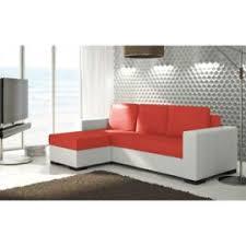 canapé lit blanc justyou newark canapé d 39 angle sofa canapé lit cuir écologique