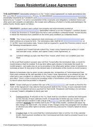 free texas standard residential lease agreement template u2013 pdf u2013 word