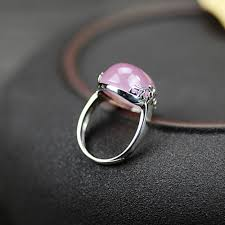mothers day rings japan and south korea 925 sterling silver thai pink