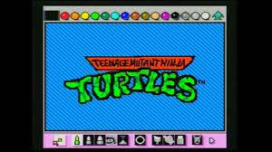 teenage mutant ninja turtles intro animated with mario paint by