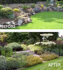Steep Sloped Backyard Ideas by Bank Landscaping Ideas Backyard Fence Ideas
