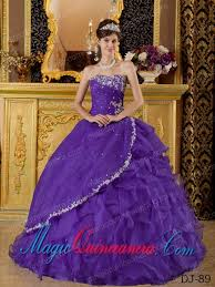 discount quinceanera dresses in purple ball gown strapless