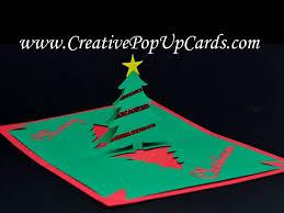 easy christmas tree pop up card youtube