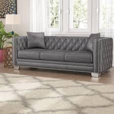 Grey Velvet Chesterfield Sofa Grey Velvet Sofas You Ll Wayfair