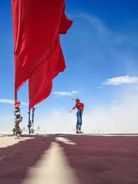 Burning Red Flag Post Cards From Burning Man Be My Travel Muse