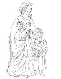 two coloring pages for the feast of st joseph