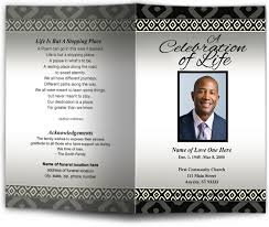 funeral program wording obituary programs templates ethnic american