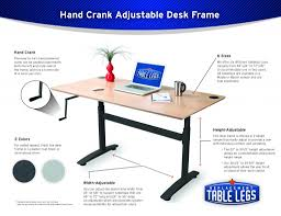 Height Adjustable Desk Frame by The Top 5 Reasons To Love A Hand Cranked Adjustable Height Desk