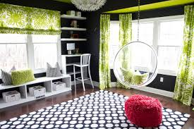 Bedroom Ideas For Teenage Girls Black And White Hanging Chairs In Bedrooms Hanging Chairs In Kids U0027 Rooms