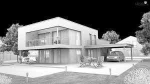 modern house architecture visualization