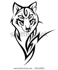 tribal wolf design stock vector 101240563