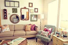 furniture attractive living room design with wall mirror