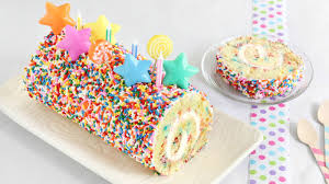 confetti cake roll recipe bettycrocker com
