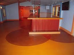 kitchen 2 color painted concrete floor ideas design with cool