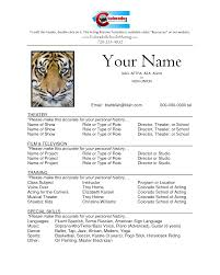 Sample Resume Templates Free by Sample Acting Resume Template Download Resume Sample Acting