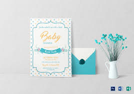 free baby shower invitations templates psd 28 images doc