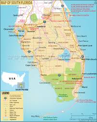 Map Florida Counties by Map Of South Florida South Florida Map