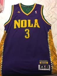 mardi gras apparel adidas new orleans hornets nola chris paul mardi gras jersey