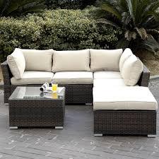 meubles en rotin 6 pc patio en coupe meubles en rotin et osier pe canapé pont