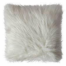 White Fur Cushions Duck Egg Mongolian Faux Fur Cushion 45 X 45cm Brandalley