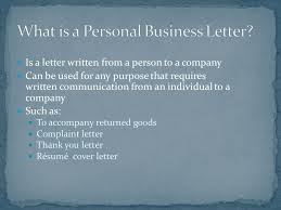writing a business letter ppt download