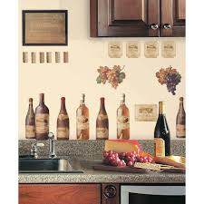 Wine Home Decor Roommates 18 In X 40 In Wine Tasting 56 Piece Peel And Stick
