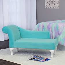 Chaise Lounge Slipcover Indoor Homepop Juvenile Chaise Lounge In Aqua Turquoise Velvet Free