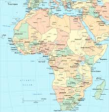 Large World Maps by Large Detailed Political Map Of Africa With Major Roads Capitals