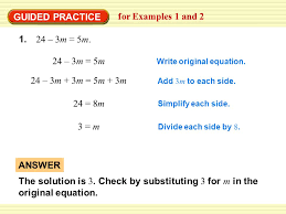 guided practice for examples 1 and 2 24 3m 5m 24 3m