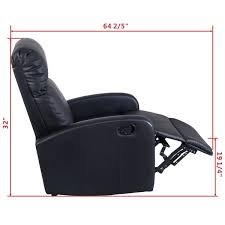 costway manual recliner leather sofa youtube