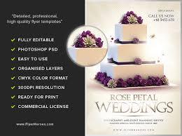 Wedding Pamphlet Template Wedding Flyer Template Flyerheroes
