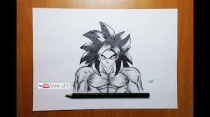 drawing goku super saiyan 4 anime dragon ball gt