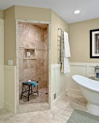 walk in shower without door bathroom mediterranean with 1927