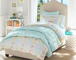 Juliette Bed Pottery Barn Soft Shades Of Aqua Yellow And Pink Give This Girls U0027 Bedroom Its
