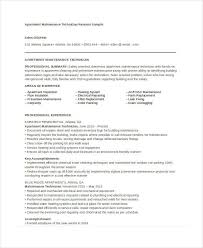 Maintenance Resume Sample by Maintenance Resume 9 Free Word Pdf Documents Download Free
