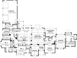 luxury estate floor plans one level executive house plans home deco plans