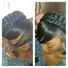 images of black braided bunstyle with bangs in back hairstyle halo braid with bangs my creations pinterest halo braid