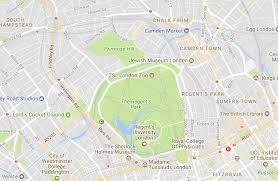 g map map of regent s park the regent s park the royal parks