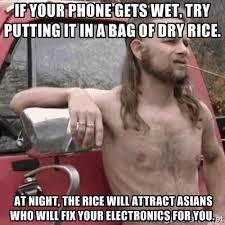 Phone Rice Meme - phone dropped in a lake non ski gabber newschoolers com