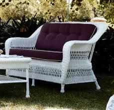 canape de jardin canapé de jardin 3 places en résine tressée blanc brin d ouest