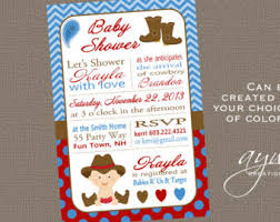 cowboy baby shower invitations country western boy invite