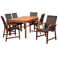 Kohls Patio Chairs by Hampton Bay Barnsdale Teak 7 Piece Patio Dining Set Set T1840