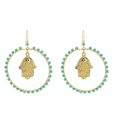 starter earrings s the beautifully crafted hamsa charm on each earring is a
